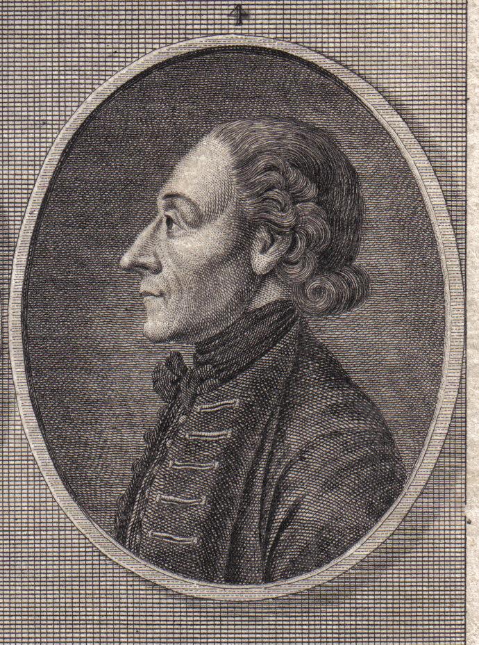 Portret Lavater in Handleiding Physionomiekunde