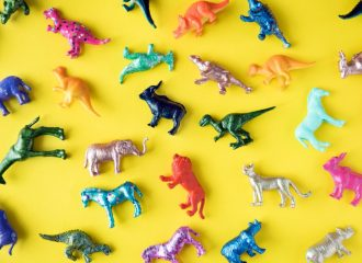 Verzameling speelgoeddieren